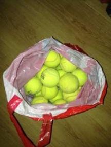 Babs en Boebie tas met tennisballen 5 -
