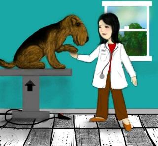 beau dutje doen bij de dierenarts! 4